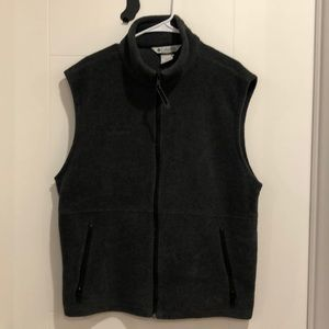 Columbia Gray Fleece Vest